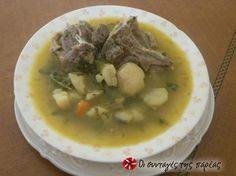 Meat soup 2 Recipe by Cookpad Greece Lemon Potatoes, Mashed Potatoes, Greek Recipes, Meat Recipes, The Kitchen Food Network, Cheeseburger Chowder, Food Network Recipes, Cooker, Curry