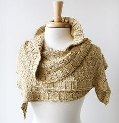 Rococo Shawl, hand-knit, 100% silk,