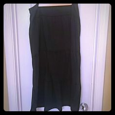 "Skirt Black Maxi skirt. 34"" in length.  Size medium.  Brand Basic Edition Basic Edition  Skirts Maxi"