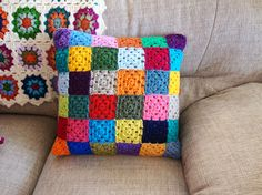 a patchwork of granny squares.