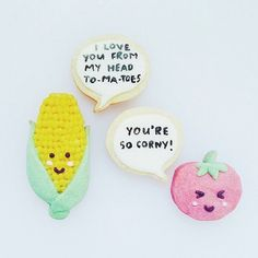 Love a good cookie pun! These sweet fellas from Vickiee Yo - see more of our favourite insta-inspo on instagram @sweet_magazine