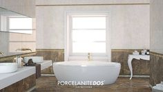 The #Classic #Porcelain #Tiles in the 7510 series for a #Stylish bathroom.