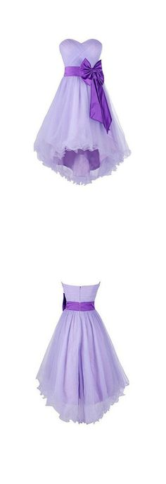 High low Homecoming Dresses, Short Prom Dresses, Tulle