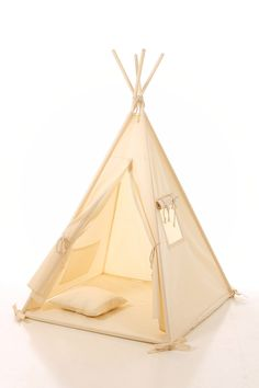 Kids teepee play tent wigwam lace,children's teepee,tipi,tent play teepee, natural canvas cotton lace tipi ,OEKO-TEX certificated materials by letterlyy on Etsy https://www.etsy.com/listing/264146449/kids-teepee-play-tent-wigwam