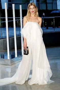 Le Fashion Blog Best Dress 2015 CFDA Awards Ada Kokosar Red Lips White Strapless Drape Top Embellished Wide Leg Pants Via Style Com photo Le-Fashion-Blog-Best-Dress-2015-CFDA-Awards-Ada-Kokosar-Red-Lips-White-Strapless-Drape-Top-Embellished-Wide-Leg-Pants-Via-Style-Com.jpg