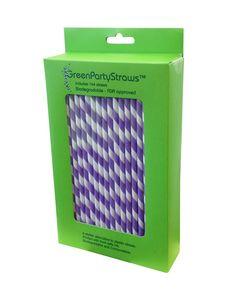 Purple Paper Straws - fab