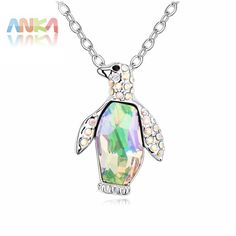 New Crystal Penguin Necklace Crystals from Austrian Animal Pendant Fashion Jewelry Necklace for women Free Shipping #102817