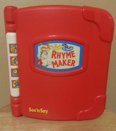 Mattel See And Say Dr. Seuss Rhyme Maker Electronic Book #Mattel