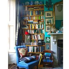 Sink into a plush armchair. | 17 Adorable Reading Nooks That Are Cosy AF