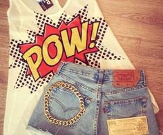 cute comic summer outfit for teens