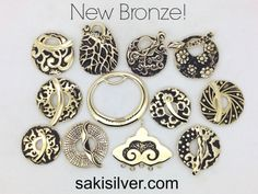 A new shipment of yellow bronze just came in! $12-$15 each.