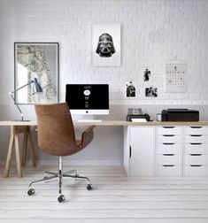 70+ Awesome Contemporary Home Office Ideas #homedecorideas #homeofficeideas #homedecoraccessories