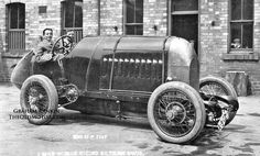 """The S76 Fiat (300hp) sets the land speed Record at Saltburn & Ostenede, 1913. """"The Beast of Turin."""""""