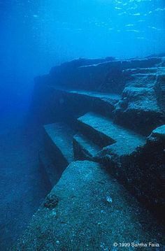 Marine Geologist discovers a supposed Year Old Yonaguni Monument, Dubbed Japanese Atlantis. Twice the age of the ancient pyramids of Egypt. Under The Water, Under The Sea, Ancient Ruins, Ancient Artifacts, Ancient History, European History, Ancient Greece, Ancient Egypt, American History