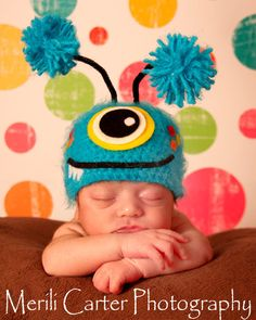SALE baby monster hat spring hat photography by SweetPeaCreates00, $19.00