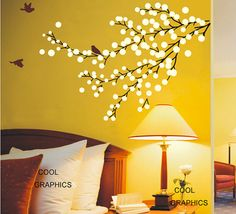 Beautiful Floral Branch Wall Decal Vinyl Sticker by coolgraphicss, $32.00