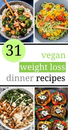 Slim down with these vegan weight loss recipes! They are perfect as a part of a fat loss diet, for lunch or dinner as they are delicious and filling. Healthy eating has never been more fun! | The Green Loot #vegan #weightloss
