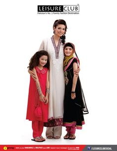Ladies and kids salwar kameez designs perfect for Eid