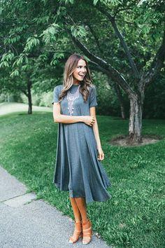the Buttercup Maxi Dress - Grey