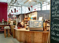 Café im Gewächshaus Huben