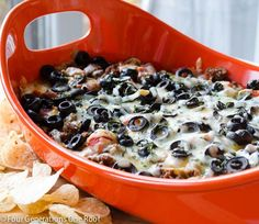 Easy Mexican Layer Hot Cheese Dip by Four Generations One Roof