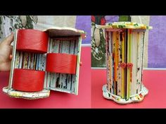 How To Make A Cosmetic Organizer with Newspaper | Best out of waste | Jewellery organizer - YouTube