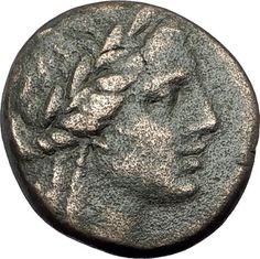 SMYRNA in IONIA - Poet Homer of Odyssey on Authentic Ancient Greek Coin i64968