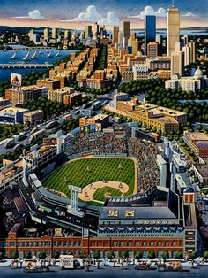 Made in USA Dowdle Boston Red Sox Baseball Stadium 500 Piece Jigsaw Puzzle Baseball Park, Red Sox Baseball, Giants Baseball, Ny Yankees, Boston Sports, Boston Red Sox, Sports Games For Kids, Mlb Stadiums, Red Sox Nation