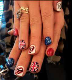 Like a Rolling Stone by Sophy Robsons nail team. London baby!