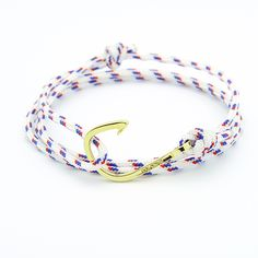 White Rope Gold Plated Hook http://enzokay.com/