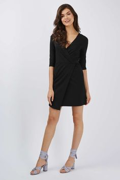 Ponte Wrap Mini Dress - Dresses - Clothing - Topshop