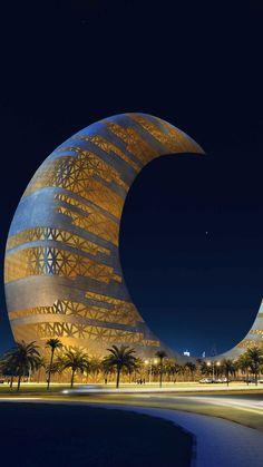 Crescent Moon Tower, o futuro arranha-céu nos céus de Dubai . Dubai Architecture, Unique Architecture, Islamic Architecture, Unique Buildings, Amazing Buildings, Beautiful World, Beautiful Places, Dubai Travel, Travel Photography