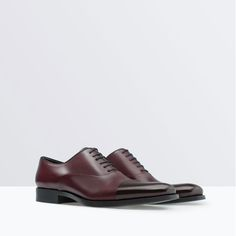 ZARA - SHOES & BAGS - SARTORIAL LEATHER OXFORD SHOE