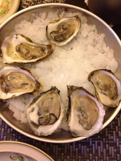 Out. Or in - with oysters.