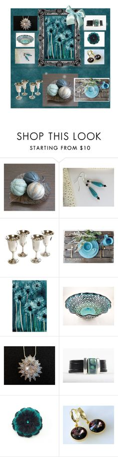 """""""Teal Trends"""" by keepsakedesignbycmm ❤ liked on Polyvore featuring Wallace, etsy, accessories, homedecor, artwork and smallshops"""