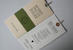 Hochzeitskarte Amira elfenbein-oliv mit Texteinlage