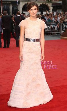 Keira Knightley in Chanel Haute Couture at the London premiere of Anna Karenina