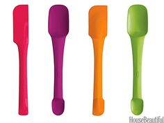 Stir, scoop, spread, and serve with these dual-ended silicone tools—why let one end go to waste? In seven wake-up-your-kitchen colors. Switchits, $10 each. chefn.com