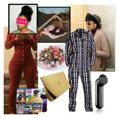 """Rooftop Sleepover w/ Auggie"" by viviananeal ❤ liked on Polyvore featuring GANT and Clinique"