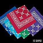Jewel-Tone Bandanas (for tin buckets) 12 for $11.00