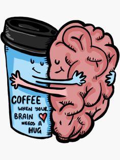 """""""Coffee- Brain Dead"""" Sticker by penandfelt"""