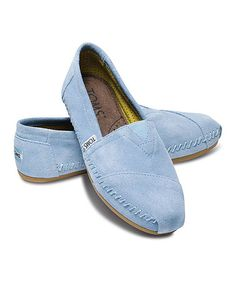 Look what I found on #zulily! Pale Blue Suede Moccasin - Women by TOMS #zulilyfinds
