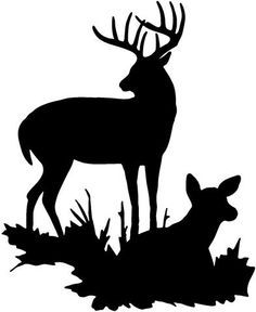 Buck Deer Decal Sticker Truck Home Window Graphic Animal Silhouette, Silhouette Projects, Silhouette Design, Deer Silhouette Printable, Silhouette Cameo, Deer Head Silhouette, Reindeer Silhouette, Hirsch Silhouette, Stencils