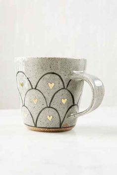 { Pickle Pottery Heart Loop Mug - Urban Outfitters }