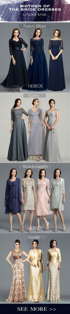 Find gorgeous mother of the bride & mother of the groom dresses at HEBEOS in various colors, designs, styles & sizes. HEBEOS 2018 mother of bridesmaid gown on SALE!