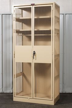 WireCrafters heavy duty Military Storage Lockers are ideal for storing specialized United States Military tactical gear or standard issue items. Weapon Storage, Gun Storage, Garage Storage, Locker Storage, Airsoft, Reloading Room, Armoire, Diy Locker, Gun Rooms