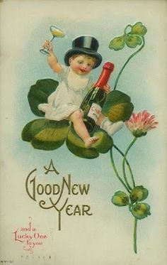 Excellent Happy new year detail are offered on our website. Read more and you wont be sorry you did. Vintage Happy New Year, Happy New Year Cards, New Year Greetings, Vintage Holiday, Irish Greetings, Saint Patrick, Vintage Greeting Cards, Vintage Postcards, Holiday Postcards