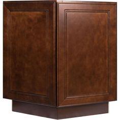 Everyday Cabinets 24 Inch Cherry Mahogany Brown Leo Saddle End Angle Base  Kitchen Cabinet (Cherry Mahogany)