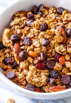 """Sweet, simple, healthy, wholesome, feel-good """"hit the trail"""" granola. This crunchy trail mix granola is simple to make and has so much flavor and texture!    Another January week, another healthy-ish recipe. It's been far too long"""