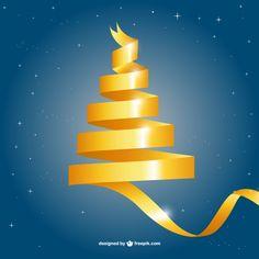 Yellow Christmas tree | Design | Christmas Card